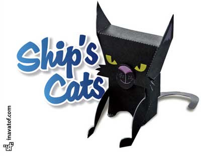 Pirate Ship Cat Papercraft