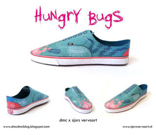 Vans Era Shoe Papercraft Hungry Bugs