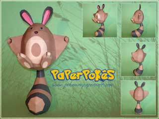 Pokemon Sentret Papercraft