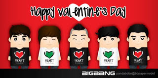 BigBang Valentine's Day Papercraft