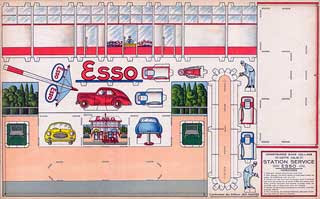 Esso Gas Station Papercraft