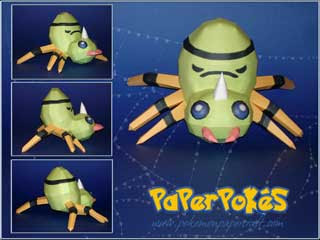 Pokemon Spinarak Papercraft