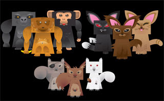 Deadly Furry Cute Papercrafts