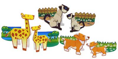 Cut Fold Animal Papercrafts