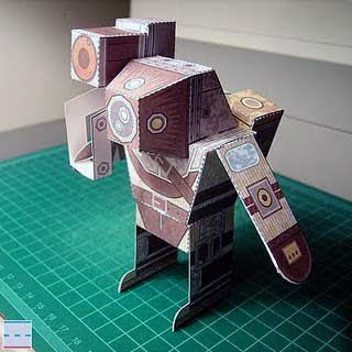 BioShock 2 Rumbler Big Daddy Papercraft