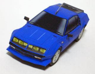 alpine a310 papercraft (sports