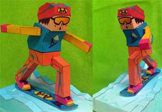 Snowboarder Papercraft