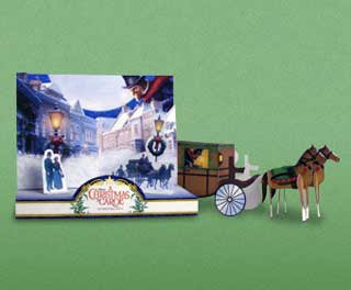 A Christmas Carol Horse Carriage Papercraft