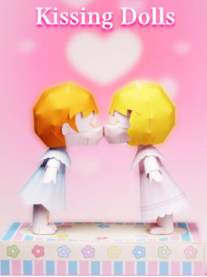 Kissing Dolls Papercraft