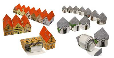 Mini Desktop Town Papercraft