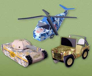 HP Military Papercrafts
