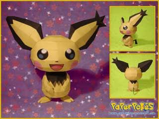 Pokemon Spiky Eared Pichu Papercraft