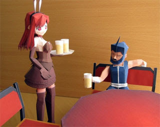Bunny Beer Maiden Papercraft