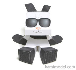 Panda Mood Paper Toy