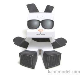 Panda Mood Paper Toy
