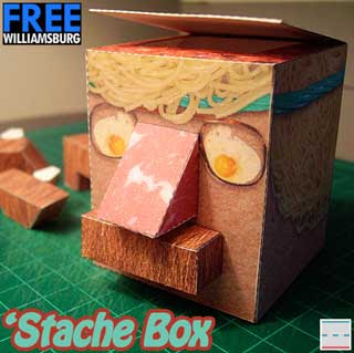 Hipster Stache Box Papercraft