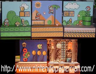 Super Mario 3 Diorama Papercrafts