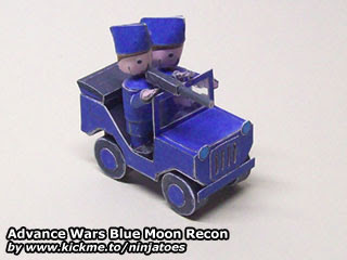 Blue Moon Recon Papercraft