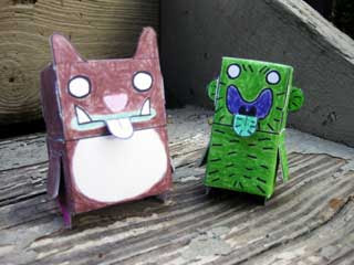 The Muncher & Cactus Person Paper Toy