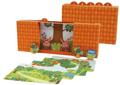 Tortoise & Hare Picture Box Papercraft