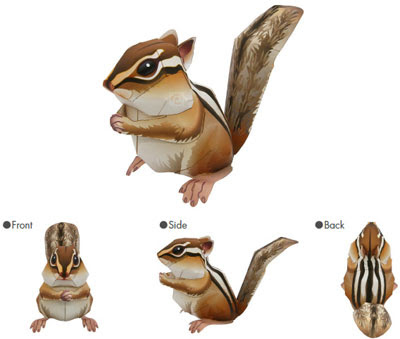 Chipmunk Papercraft