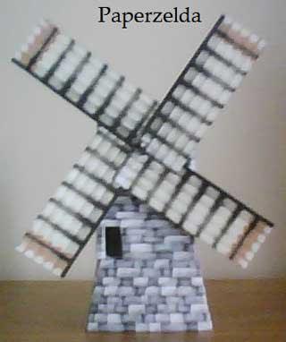 Kakariko Windmill Papercraft