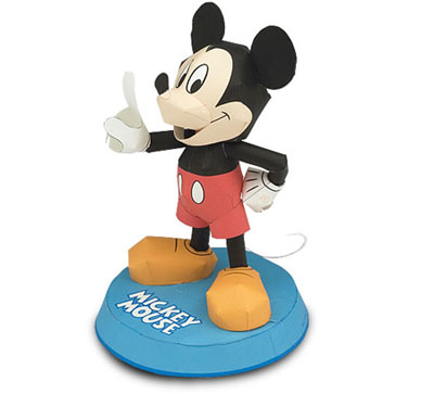 Disney Mickey Mouse Papercraft Paperkraft Free Papercraft