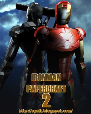 Iron Man 2 Papercraft Mark VI Armor