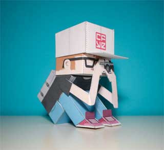 CFYE Crackboy Paper Toy