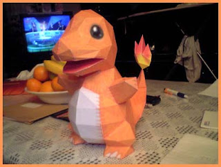 A Charmander Doll Papercraft Ripped From The Pokemon Crystal Video Game For Boy Color This Also Serves As First Entry To NPs Contest