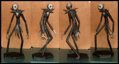 Nightmare Before Christmas Jack Skellington Papercraft