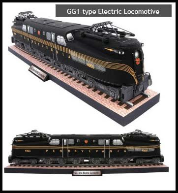 GG1 Electric Locomotive Papercraft Train