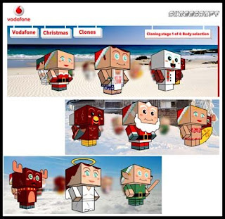 Vodafone Christmas Papercrafts