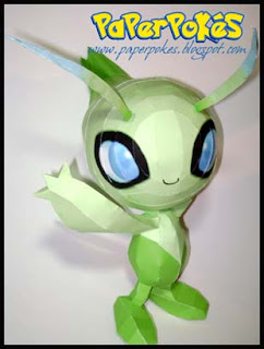 Pokemon Celebi Papercraft