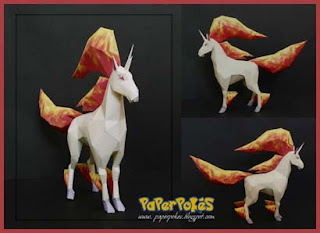 Pokemon Rapidash Papercraft