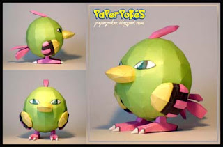 Pokemon Natu Papercraft