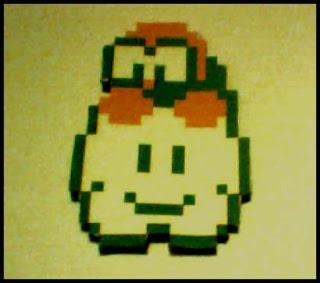 8-bit Super Mario Lakitu Papercraft