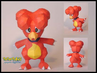 Pokemon Magby Papercraft