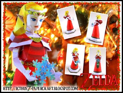 Princess Zelda Christmas Papercraft