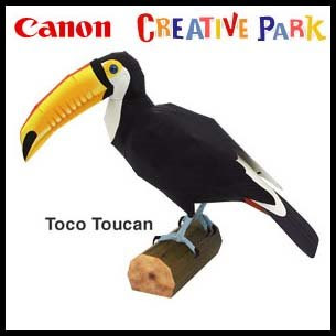 Toco Toucan Papercraft Bird