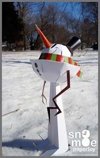 Snowman Papercraft - Snomoe
