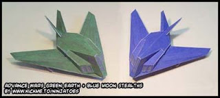 Advance Wars Stealth Fighter Papercrafts