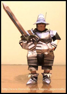 Final Fantasy IX Steiner Papercraft