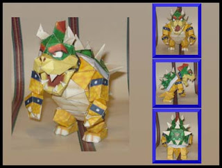 Super Mario Bowser Papercraft