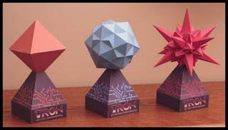 Disney's Tron Bit Papercraft