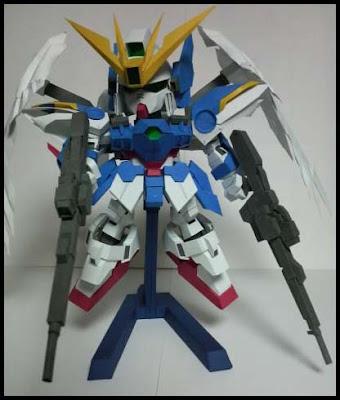 SD Wing Gundam Zero Papercraft