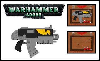 Warhammer 40,000 Bolter Papercraft Gun