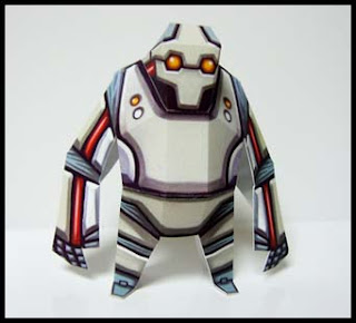 Robot Papercraft Blue