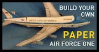 Air Force One Airplane Papercraft