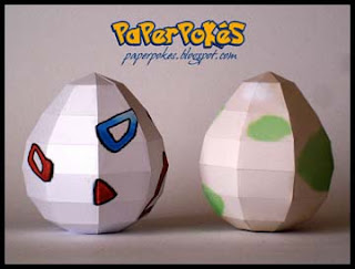 Pokemon Egg Papercraft